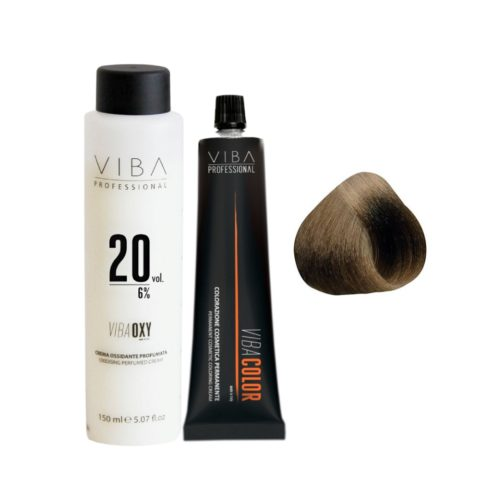 Viba Professional Kit Color 5 Light Brown and Developer 20 vol