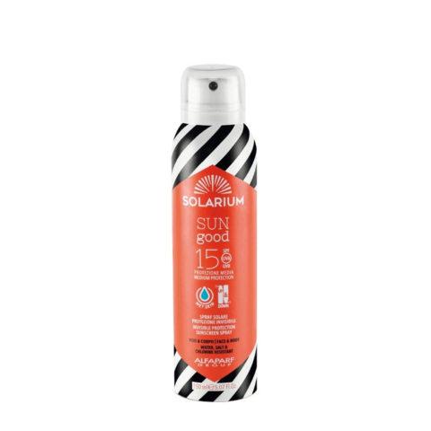 Solarium Invisible Protection Sunscreen Spray SPF15 Gesicht Und Körper 150ml