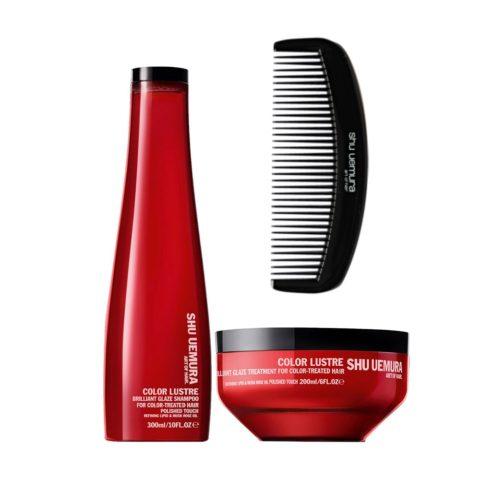 Shu Uemura Color lustre kit shampoo 300ml masque 200ml Geisha Comb for free