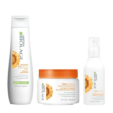 Biolage Sunsorials After sun shampoo 250ml Sun repair treatment 150ml Protective hair dry oil 150ml