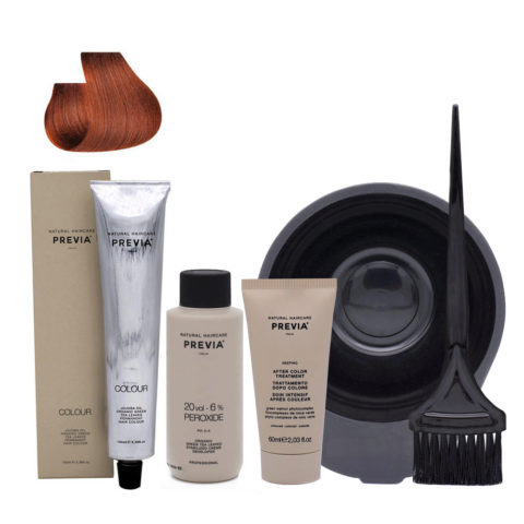 Previa Color Do It Yourself Haarfarbe Kit 7.34 Goldblondes Kupfer