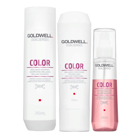 Goldwell Dualsenses Color Brilliance shampoo 250ml Conditioner 200ml Spray 150ml for Coloured Hair