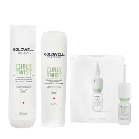 Goldwell Dualsenses Curly twist Hydrating Shampoo 250ml Conditioner 200ml Serum 12x18ml for Curly Hair
