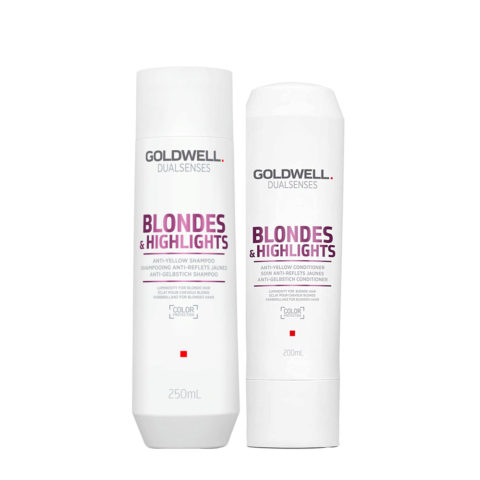Goldwell Dualsenses blond & highlights Anti Yellow shampoo 250ml and Conditioner 200ml