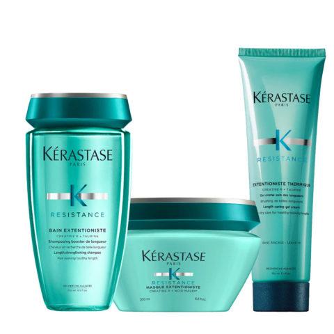 Kerastase Résistance Extentioniste Shampoo 250ml Mask  200ml Wärmeschutzcreme Gel 150ml
