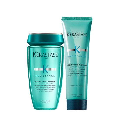Kerastase Résistance Extentioniste Shampoo 250ml Wärmeschutzcreme Gel 150ml