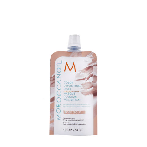 Moroccanoil Color Deposit Mask Rose Gold 30ml - Farbige Maske Roségold