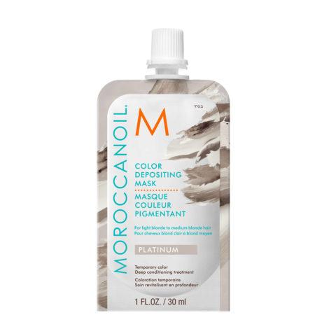 Moroccanoil Color Deposit Mask Platinum 30ml - Platinfarbene Maske