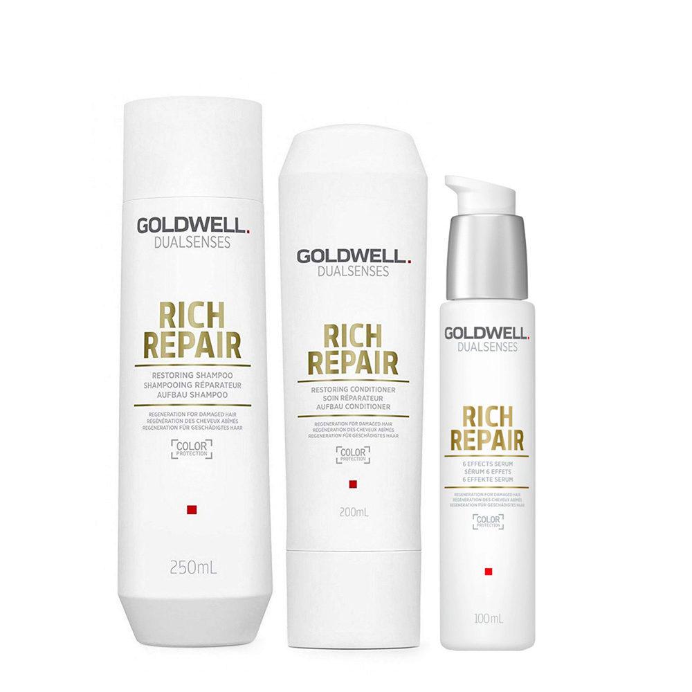 Goldwell rich repair Shampoo 250ml Conditioner 200ml Serum 100ml
