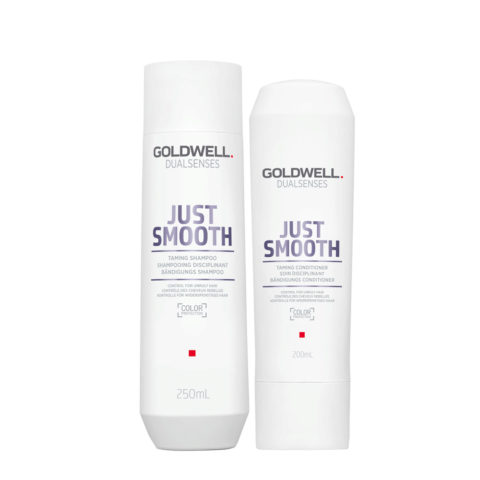 Goldwell Dualsenses Just Smooth Bändigungs Shampoo 250ml und Conditioner 200ml