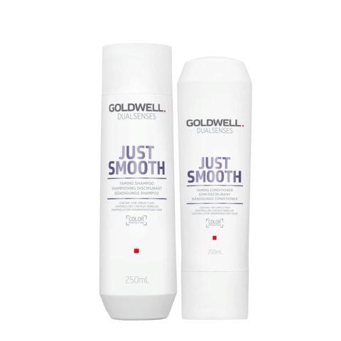 Goldwell Dualsenses Just Smooth Bändigungs Shampoo 250ml und Conditioner 200ml