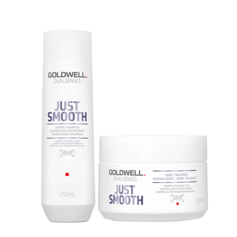Goldwell Dualsenses Just Smooth Bändigungs Shampoo 250ml und Mask 200ml