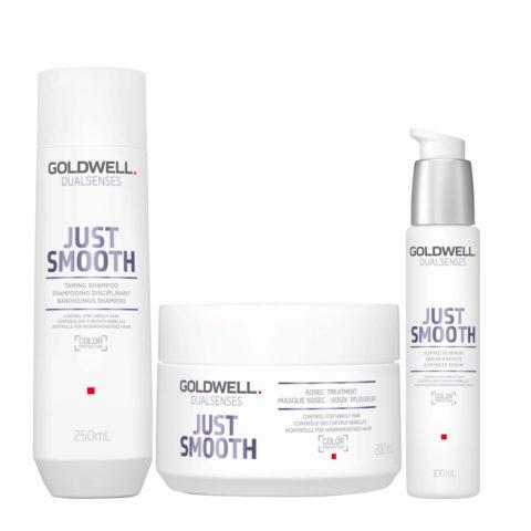 Goldwell Dualsenses Just Smooth Bändigungs Shampoo 250ml Mask 200ml Serum 100ml