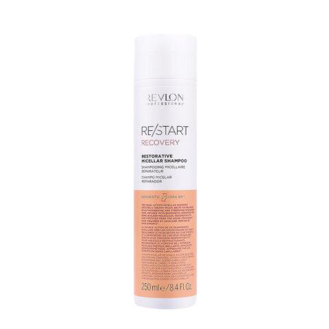 Revlon Restart Recovery Restorative Micellar Shampoo 250ml - Restrukturierungsshampoo für beschädigtes Haar