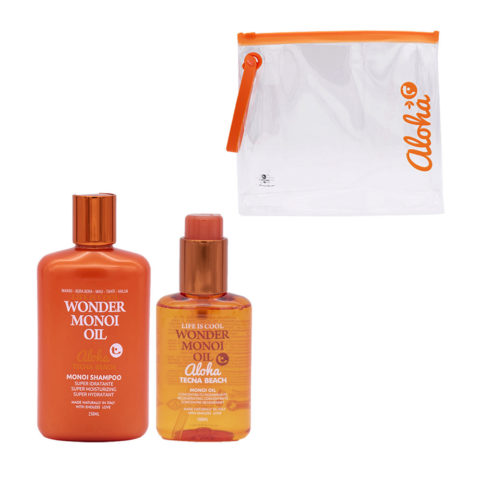 Tecna Beach Wonder Monoi kit Shampoo 250ml Monoi Oil 100ml Kostenlose Pochette