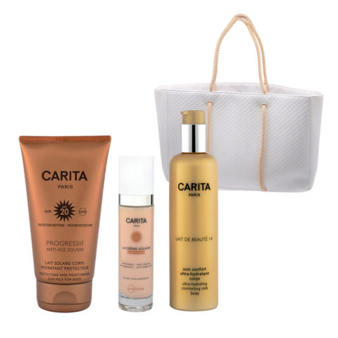 Carita Body Sun Protection SPF20, 150ml Face Protection SPF50+, 50ml Body Milk 200ml