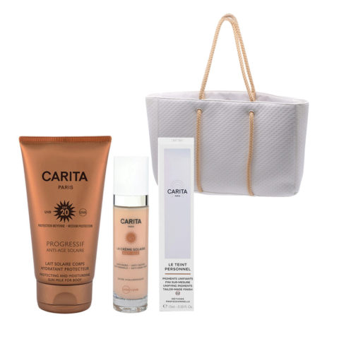 Carita Body Sun Protection SPF20, 150ml Face Protection SPF50+, 50ml Flüssige Gesichtspigmente 02 Medium 15ml