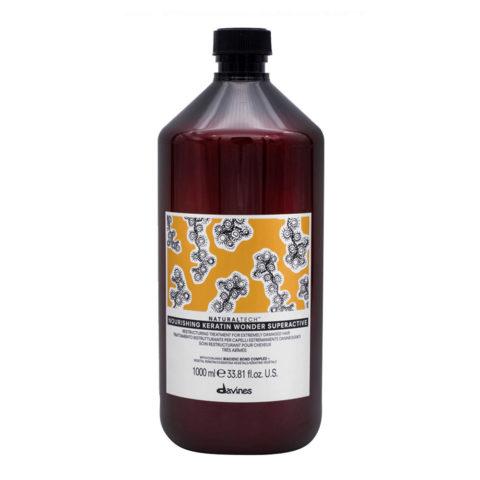 Davines Naturaltech Nourishing Keratin Wonder Superactive 1000ml - Restrukturierungsmaske Für Geschädigtes Haar