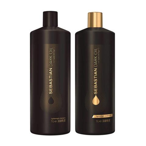 Sebastian Dark Oil Leichtes feuchtigkeitsspendendes Shampoo 1000ml Conditioner 1000ml