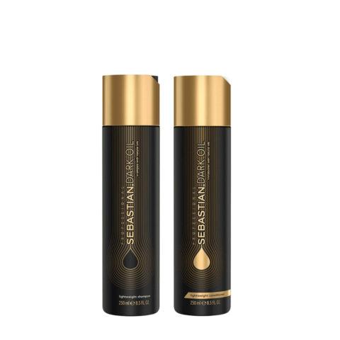 Sebastian Dark Oil Leichtes feuchtigkeitsspendendes Shampoo 250ml Conditioner 250ml