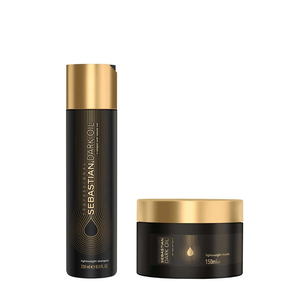 Sebastian Dark Oil Leichtes feuchtigkeitsspendendes Shampoo 250ml Maske 150ml