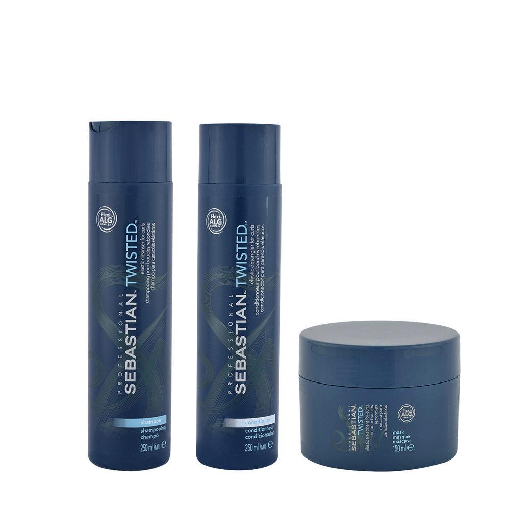 Sebastian Twisted Shampoo 250ml Conditioner 250ml Maske 150ml für lockiges Haar