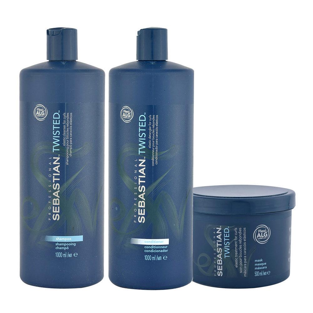 Sebastian Twisted Shampoo 1000ml Conditioner 1000ml Maske 500ml für lockiges Haar