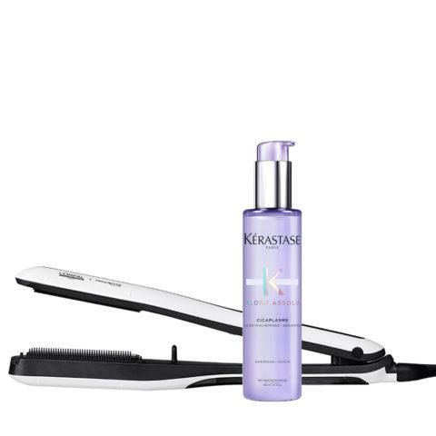 Steampod Haarglättter 3.0 und Kerastase Blond Absolu Cicaplasme Leave in 150ml für Blondes Haar