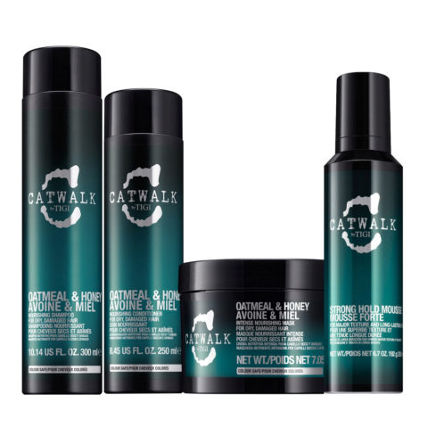 Tigi Catwalk Shampoo 300ml Conditioner 250ml Strong Hold Mousse 200ml Maske 200gr