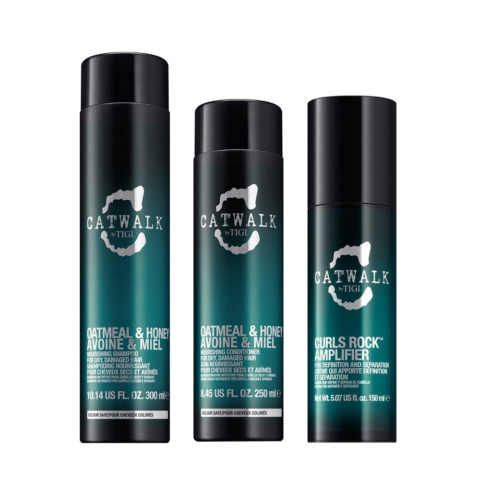 Tigi Catwalk Shampoo 300ml Conditioner 250ml Curls Rock Amplifier 150ml