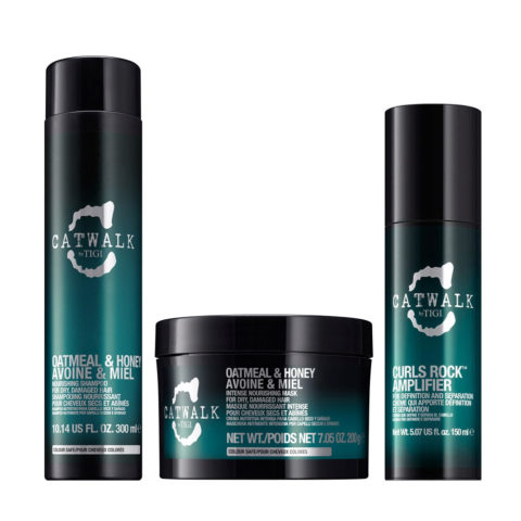 Tigi Catwalk Shampoo 300ml Maske 200gr Curls Rock Amplifier 150ml