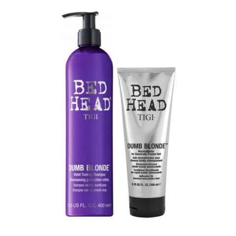 Tigi Bed Head Dumb Blonde Violet Toning Shampoo 400ml Conditioner 200ml