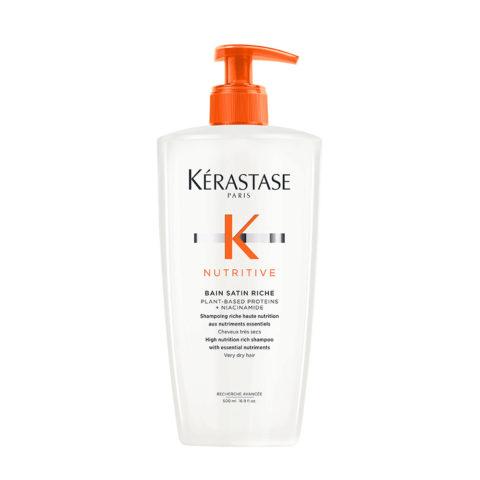 Kerastase Nutritive Bain satin 2, 500ml - Pflege-Shampoo für feines oder dickes trockenes und strapaziertes Haar