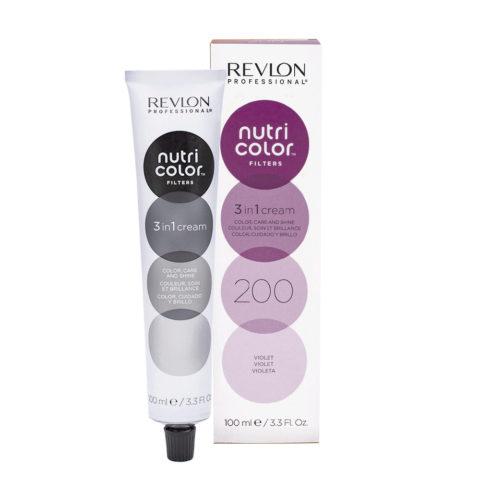 Revlon Nutri Color Creme 200 Violett 100ml - Farbemaske