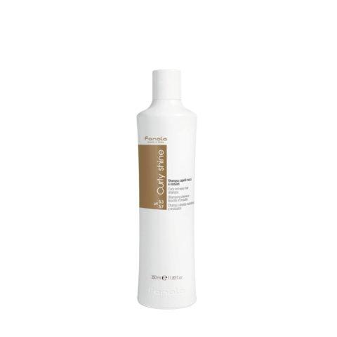 Fanola Curly Shine Shampoo Lockiges und Welliges Haar 350ml