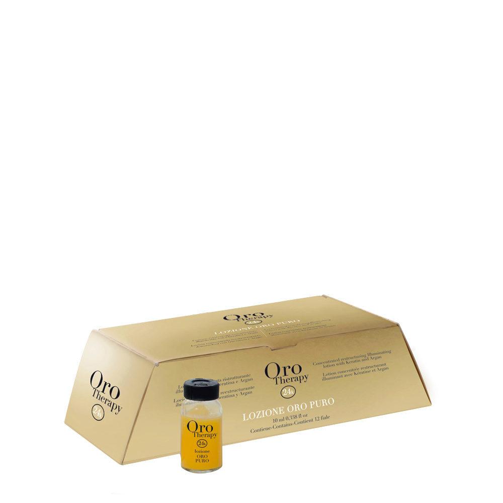 Fanola Oro Therapy Oro Puro Restrukturierungsfläschchen für alle Haartypen 12x10ml
