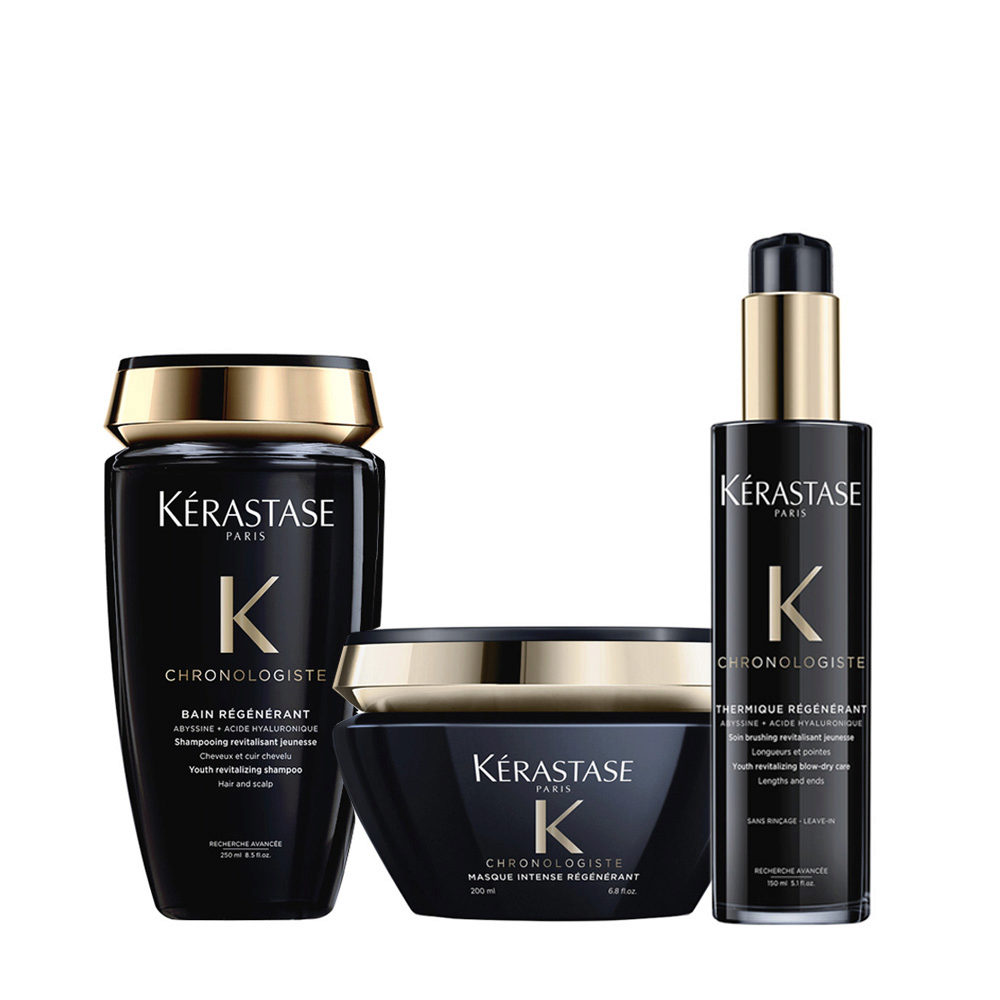 Kerastase Chronologiste Shampoo 250ml Maske 200ml Wärmeschutzcreme 150ml