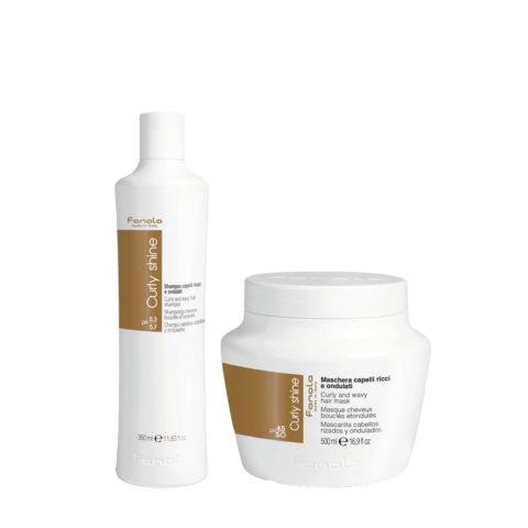 Fanola Curly Shampoo 350ml Und Maske 500ml Für Lockiges Haar
