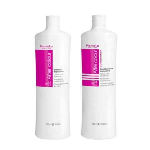 Fanola After Color Shampoo 1000ml Und Conditioner 1000ml Für Gefärbtes Haar