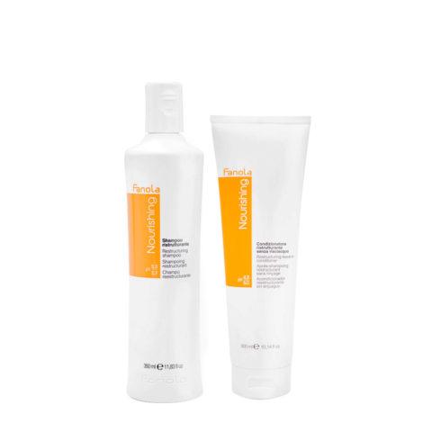 Fanola Nutri Care Shampoo 350ml Und Conditioner 300ml Für Geschädigtes Haar