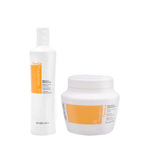 Fanola Nutri Care Shampoo 350ml Und Maske 500ml Für Beschädigtes Haar