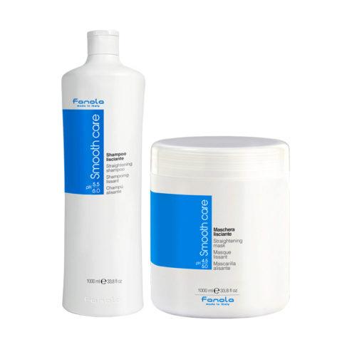 Fanola Smooth Care Shampoo 1000ml Und Maske 1000ml