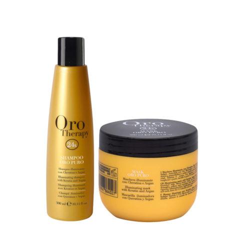 Fanola Oro Puro Shampoo 300ml Und Maske 300ml