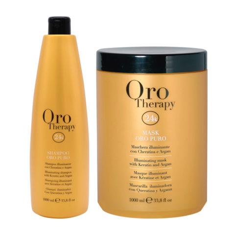 Fanola Oro Puro Shampoo 1000ml Und Maske 1000ml