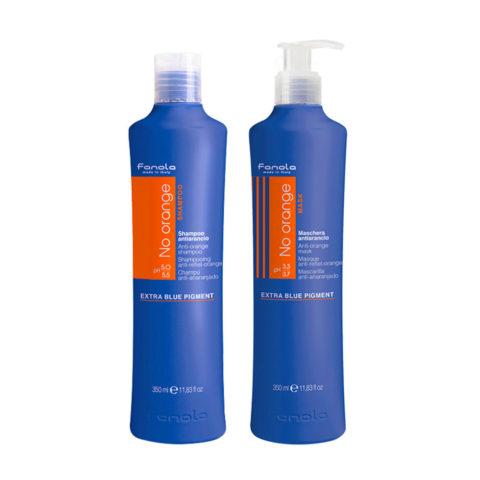 Fanola Anti - Orange Shampoo 350ml Und Conditioner 350ml Braune Haare