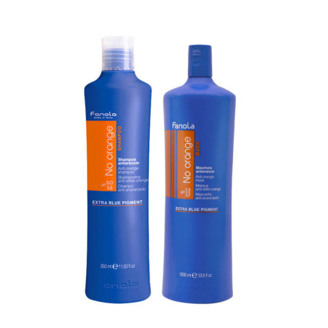 Fanola Anti - Orange Shampoo 1000ml Und Conditioner 1000ml Braune Haare