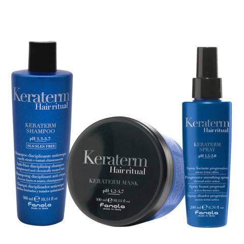 Fanola Keraterm Shampoo 300ml Maske 300ml Spray 200ml Antifrizz