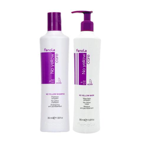 Fanola Shampoo 350ml Und Maske 350ml Anti Gelb Für Blonde Haar