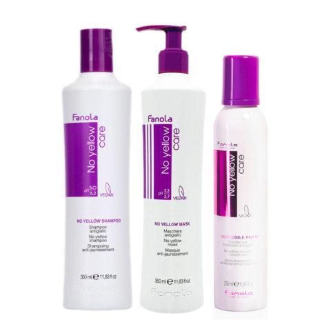 Fanola Shampoo 350ml Und Maske 350ml Mousse 250ml Anti Gelb Für Blondes Haar