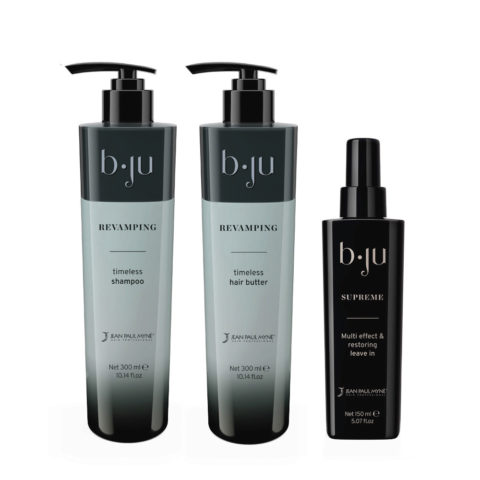 Jean Paul Mynè b ju Revamping Feuchtigkeitsspendendes Shampoo 300ml Conditioner 300ml Serum 150ml
